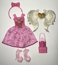 Ever After High Birthday Ball CA Cupid Doll Outfit Clothes Dress Wings Shoes NEW
