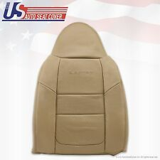 2001 Ford F250 F350 Lariat Driver Upper Back Leather Seat Covers Parchment TAN