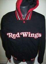 Detroit Red Wings Reversible Polyester / Fleece Jacket Black/Red Medium