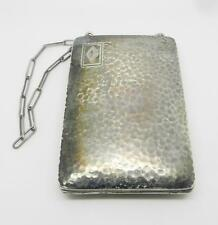 ANTIQUE STERLING SILVER COIN / MONEY / CARDS COMPACT PURSE -  LB-C0847