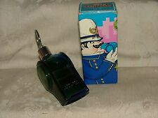 1972 Avon The Big Whistle Blue Decanter Tai Winds Aftershave Full 4 Fl Oz w/ Box