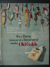 1951 Vintage Fishing Lures in Old Gold Cigarette Vintage Print Ad 12521