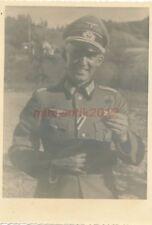 Foto, Portrait, Oberleutnant mit KVK2 u. Sportabzeichen, Prost; 5026-228