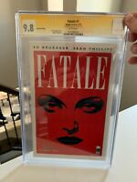 ED BRUBAKER FATALE #1 CGC SS 9.8 SIGNED - FOURTH PRINTING - RARE COVER