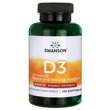 Swanson High Potency Vitamin D3 (5,000IU, 250 Softgels)**Free & Fast UK P&P