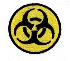 Patch ecusson brodé backpack thermocollant biohazard danger chimique zombie