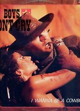 BOYS DON'T CRY i wanne be a cowboy 12INCH 45 RPM GERMAN 1985 EX