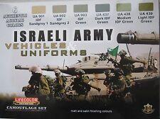 Lifecolor ACRILICI lc-cs32 esercito israeliano veicolo e uniforme vernice Set