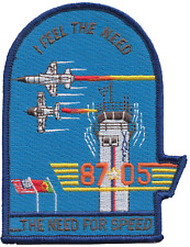 Top Gun 'The Need For Speed' United States Navy USN Shaped Embroidered Patch