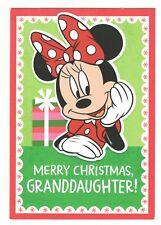 MINNIE MOUSE GRANDDAUGHTER Hallmark Christmas Greeting Card Envelope Disney MG19