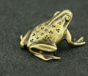 Vintage Copper Mini Frog Statue Animal Home Decor Office Desk Decorations Gifts