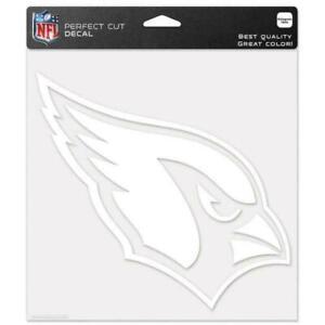 """Arizona Cardinals NFL 8""""x8"""" White Decal Sticker Primary Team Logo Die Cut Car"""