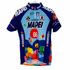 Vtg 90s Team Mapei Cycling Jersey by Sportful Colnago Latexco Mapecem GB