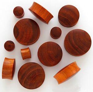 1 Pair 6g 4mm Brown Chang Organic Solid Exotic Wood Saddle Plugs Ear Gauges 525