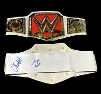 WWE ALEXA BLISS AND CHARLOTTE FLAIR HAND SIGNED TOY BELT WITH PROOF AND COA RARE