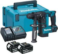18V SDS-Plus Compact Rotary Hammer Drill, 2x 4Ah Batteries - MAKITA