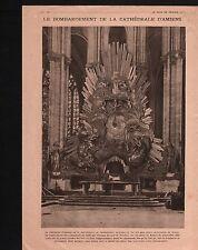 WWI Bombardement Cathédrale Notre-Dame d'Amiens/Locre & Kemmel 1918 ILLUSTRATION