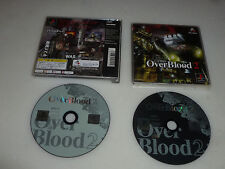 JAPAN IMPORT VIDEO GAME SONY PLAYSTATION OVERBLOOD 2 PS1 2-DISC RIVERHILLSOFT >