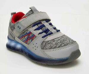 NEW Toddler Boys' Surprize by Stride Rite Ardo Light-Up Sneakers Grey - SIZE 4