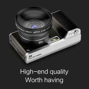 4.0-Inch 12X Optical Zoom 1080P HD IPS Digital SLR 24MP Camera Video Recorder