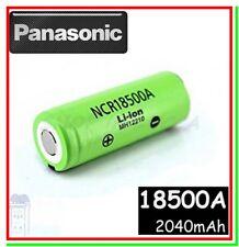 Batteria Pila Litio Ricaricabile PANASONIC NCR 18500 A 2040mAh Flat Pole Li ion