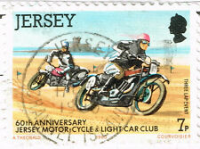 Jersey Motorcycle Race 1988 stamp