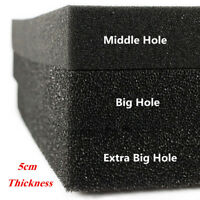 50X50X5cm 3 Density Black Filtration Foam Aquarium Fish Tank Filter Sponge