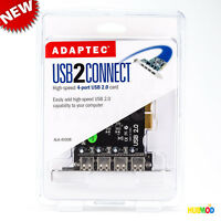 Adaptec USB2Connect 4-port USB Internal PCI Controller Card AUA-4000B NEW Retail