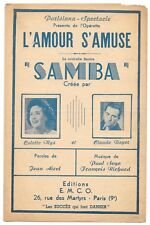 SAMBA L' amour s' amuse crée par Colette MYS & Claude BOYER Paroles Jean AIZEL