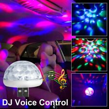 3W Car USB RGB LED Lights mobile phone Atmosphere Decor Music Party Lamps White