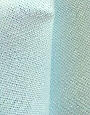 Zweigart blue sky glitter pearl flecked 14 count Aida  50cm x 50 cm