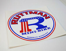 RUTTMAN Mini Bike Vintage Style DECAL | Vinyl STICKER