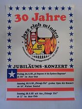 """Jazz Club Minden"" 30th Anv. Concert Poster - Germany - Original 1983 - 17""x23"""