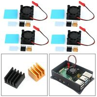 4x Squared Fan Single Fan With Heatsink Thermal adhesive For Raspberry Pi 4B,3B+