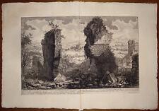 Piranesi stampa antica Ustrino Appia Roma old print kupferstich 1756 grabado