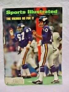 Fran Tarkenton Vikings Football Sugar Bowl Sports Illustrated January 7 1974
