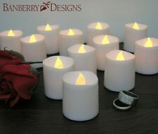 Flickering 12pcs LED Tea Light Candles Flameless Tealights Battery Operated