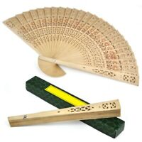 Ladies Wooden Sandalwood Hand Fan Wedding/ Birthdays Partys Z6E3