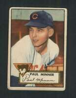 1952 Topps #127 Paul Minner VG/VGEX RC Rookie Cubs 108529