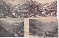 Lot 4 cartes postales anciennes GAVARNIE le cirque