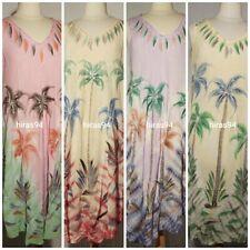 LADIES NEW SUMMER TYE DYE PRINT & EMBROIDED UMBRELLA DRESS FITS SIZE 12 TO 24