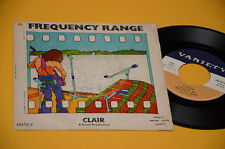 "FREQUENCY RANGE 7"" 45 CLAIR 1° STAMP AORIG ITALY 1972"