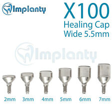 100 Wide Healing Cap 5.5mm  Dental Abutment internal Hex Ft Alpha Bio Adin Mis