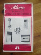 Vintage Aladdin No 203 Burner Operating Instructions Guide