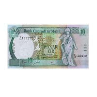 Malta Banknote #51 10 Liri 5th Series A.P. Galdes Fine Pre Euro