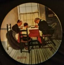 """Knowles Norman Rockwell Plate """"Family Grace""""1998 Heritage Collection"""