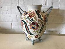 Antique Manner of Fischer / Zsolnay Porcelain Art Pottery Vase w/ Floral Dec.