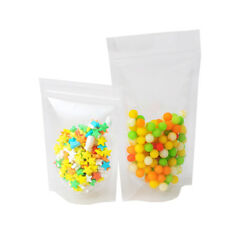 100pcs Clear Stand Up Reclosable Poly Zip Lock Bag pouch 3.5x5 in (9x13cm) #BO21