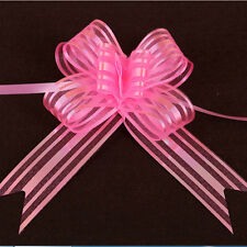 Colourful 50mm Organza 10PCS Ribbon Pull Bows Wedding Large Party Wrap Gift WR