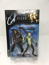 THE X-FILES ATTACK ALIEN & CAVEMAN McFarlane Toys Figure Set Sealed